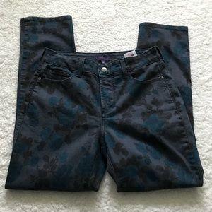 NYDJ Jeans - NYDJ Skinny Denim Jeans Floral Lift and Tuck